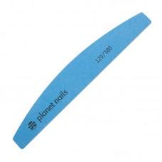 Planet Nails Пилка для ногтей, Mylar Flexible, широкая полукруглая, 120/180, синяя