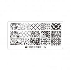 Planet Nails Пластина для Stamping Nail Art, №10