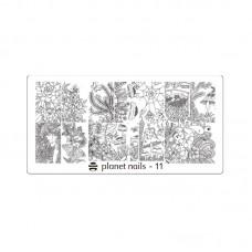 Planet Nails Пластина для Stamping Nail Art, №11