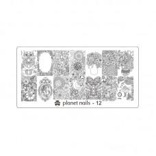 Planet Nails Пластина для Stamping Nail Art, №12