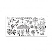 Planet Nails Пластина для Stamping Nail Art, №13