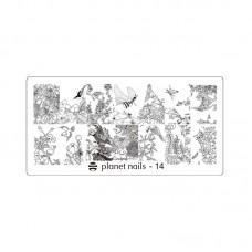 Planet Nails Пластина для Stamping Nail Art, №14 в Минске