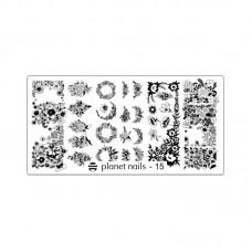 Planet Nails Пластина для Stamping Nail Art, №15