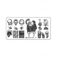 Planet Nails Пластина для Stamping Nail Art, №17 в Минске