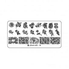 Planet Nails Пластина для Stamping Nail Art, №18 в Минске