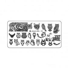 Planet Nails Пластина для Stamping Nail Art, №19 в Минске
