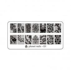 Planet Nails Пластина для Stamping Nail Art, №1