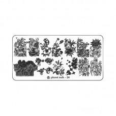 Planet Nails Пластина для Stamping Nail Art, №24