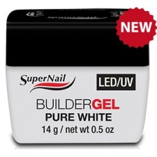 Гель Super Nail (LED/ UV, BuilderGEL Pure White, белый, 14ml.)