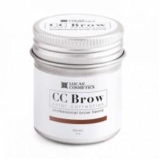 CC Brow Color Correction Хна для бровей, цвет - коричневый (в баночке) 5 г.