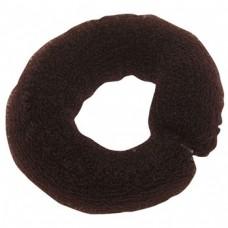 Валик PROFI line (для причесок, сетка с кнопкой, коричневый, 25см.)