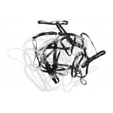 Резинки DEWAL (Midi, силиконовые, черно-белые, 50шт.)