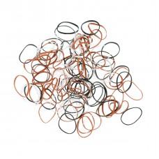 Резинки DEWAL (mini, силиконовые, цветные, 100шт.)