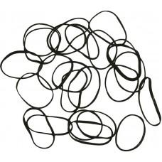 Резинки DEWAL (mini, силиконовые, черные, 100шт.)